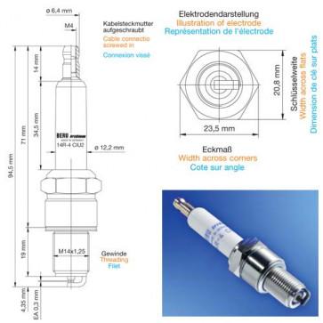 Beru Industrial Spark Plugs 14 R-4 CIU 2 - 14R-4CIU2 (0004350913) Z215