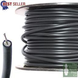 100 Meter Roll 7mm HT Ignition Lead Cable - Copper Core Lucas Hypalon Black