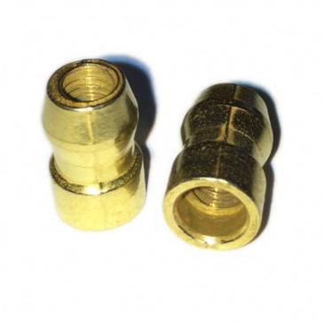 100x Spark Plug Top SAE Bullet Terminal Nut M4 Thread - Brass