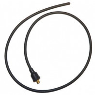 7mm HT Ignition Lead Cable Copper Core Silicoln Black Motorcycle Fitted End PMC2