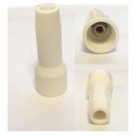 Industrial Straight Spark Plug Cap Glazed Ceramic (Threaded post connector)